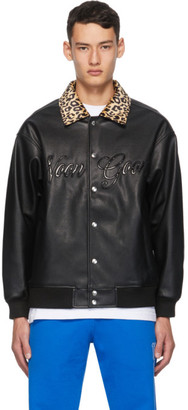 Noon Goons Black Faux-Leather Fly By Jacket