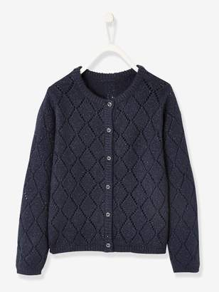 Vertbaudet Pointelle Cardigan for Girls