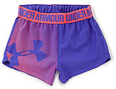 Under Armour Little Girls 2T-6X Graphic Play Up Shorts