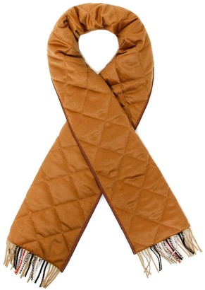 Burberry Quilted Vintage Check Scarf