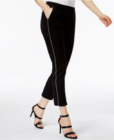 Alfani PRIMA Piped Cropped Pants, Only at Macy's