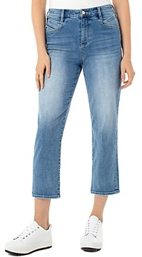 Liverpool Los Angeles High-Rise Slant-Pocket Cropped Jeans