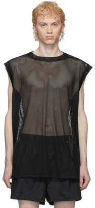 Rick Owens Black Champion Edition Mesh Sleeveless T-Shirt