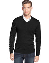 Tommy Hilfiger Men's Signature Solid V-Neck Sweater