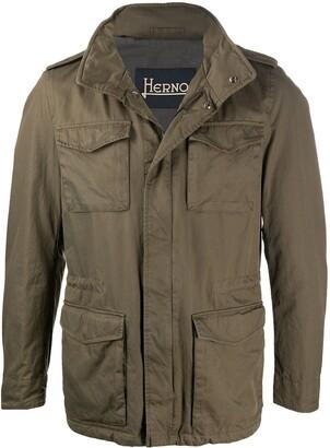 Herno Cargo-Pocket Military Jacket
