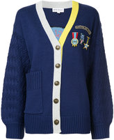 Mira Mikati badge and patch cardigan