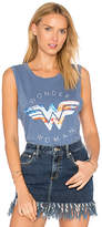 Junk Food Clothing Wonder Woman Tank in Blue. - size L (also in M)
