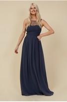 Thumbnail for your product : Little Mistress Grace Bridesmaid Gunmetal Embellishment Sweetheart Maxi Dress