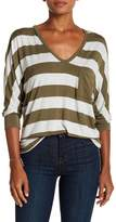 H By Bordeaux Large Stripe Dolman Tee
