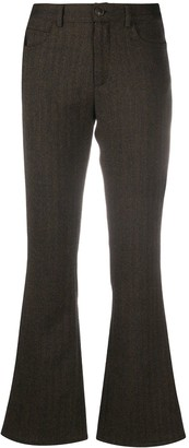 Simonetta Ravizza Herringbone Pattern Trousers