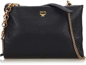 MCM Black Leather Chain Crossbody Bag