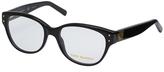 Tory Burch Black Rectangle Eyeglasses