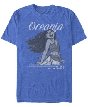 Disney Men's Moana Sketch Oceania We are All Voyagers, Short Sleeve T-Shirt