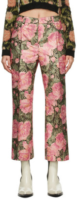 Paco Rabanne Multicolor Floral Paisley Trousers