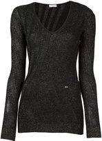 Sonia Rykiel v-neck jumper - women - Polyester/Wool - XS