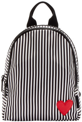 Lulu Guinness Black/Chalk/Red Heart & Stripes Sadie Backpack
