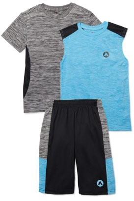 Airwalk Boys Performance T-shirt, Tank Top, and Mesh Shorts 3-Piece Set, Sizes 4-14