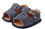 DZT1968 Baby Infant Girl boys letter printed Crib Toddler Newborn Sandals Shoes (0~6 Month, Dark Blue)