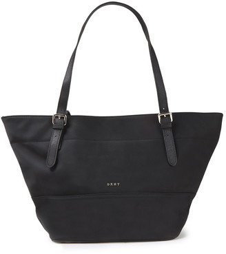 DKNY Faux Leather-trimmed Shell Tote