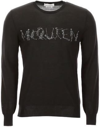 Alexander McQueen Lurex Logo Pull