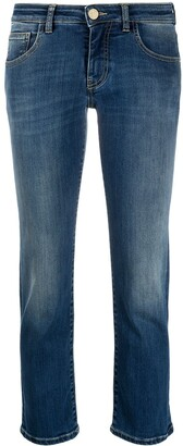 Pinko Cropped Low-Rise Jeans