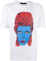 John Richmond David Bowie print T-shirt - men - Cotton - XL