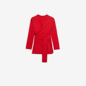 Balenciaga Tab Short Wrap Dress