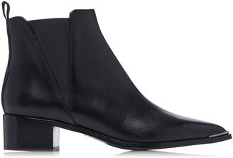 Acne Studios Women's Jensen Leather Chelsea Boots - Black - Moda Operandi