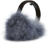 Jocelyn Marabou Feather Earmuffs, Denim