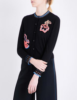 Peter Pilotto Embroidered wool knitted cardigan
