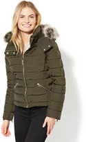 New York & Co. Faux-Fur Hooded Puffer Jacket