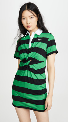 MSGM Short Sleeve Rugby Dress