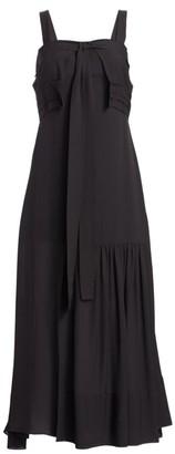 3.1 Phillip Lim Cold Shoulder Silk Tie Gown