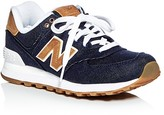 New Balance Women's Q117 Denim Lace Up Sneakers
