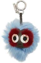 Fendi Blue Micro bag Bugs Keychain