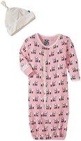 Kickee Pants Layette Gown Converter Set (Baby) - Lotus Panda - 6-12 Months