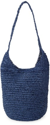 Saks Fifth Avenue Woven Straw Hobo Bag