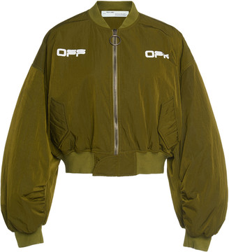 Off-White Off White C/O Virgil Abloh Logo Cropped Bomber Jacket
