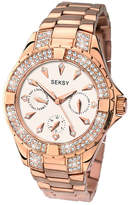Seksy Ladies' Rose Gold Plated Swarovski Elements Watch