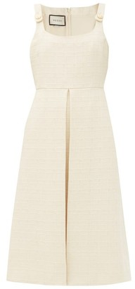 Gucci Checked Cotton-blend Jacquard Dress - Ivory