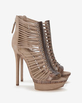 Brian Atwood Open Toe Platform Strappy Bootie