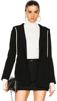 Helmut Lang Hooded Blazer Jacket in Black.