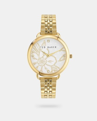 Ted Baker Metal Strap Watch With Crystals From Swarovski
