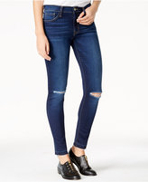 Flying Monkey Ripped Dark Wash Skinny Jeans