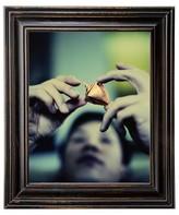 "Threshold 8""x10"" Distressed Wood Frame Black"