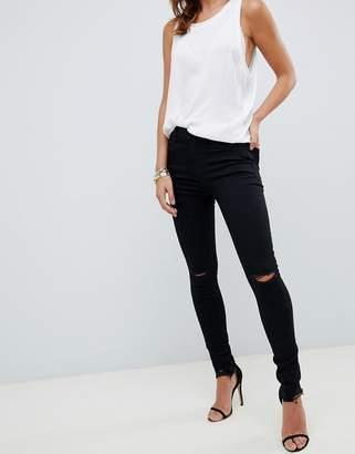 J Brand Maria high rise skinny jeans-Black