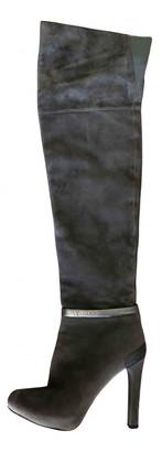 Fendi Grey Suede Boots
