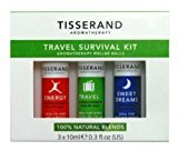 Tisserand Aromatherapy U.K. Travel Survival Kit , Contains 3x10ml Essential Oils Roll-Ons