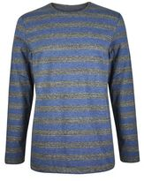 Burton Mens Common People Grey Marl Long Sleeved Stripe T-shirt*