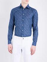 Richard James Floral Circles contemporary-fit cotton shirt
